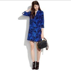 Madewell Director Shift Dress 100% Silk size M